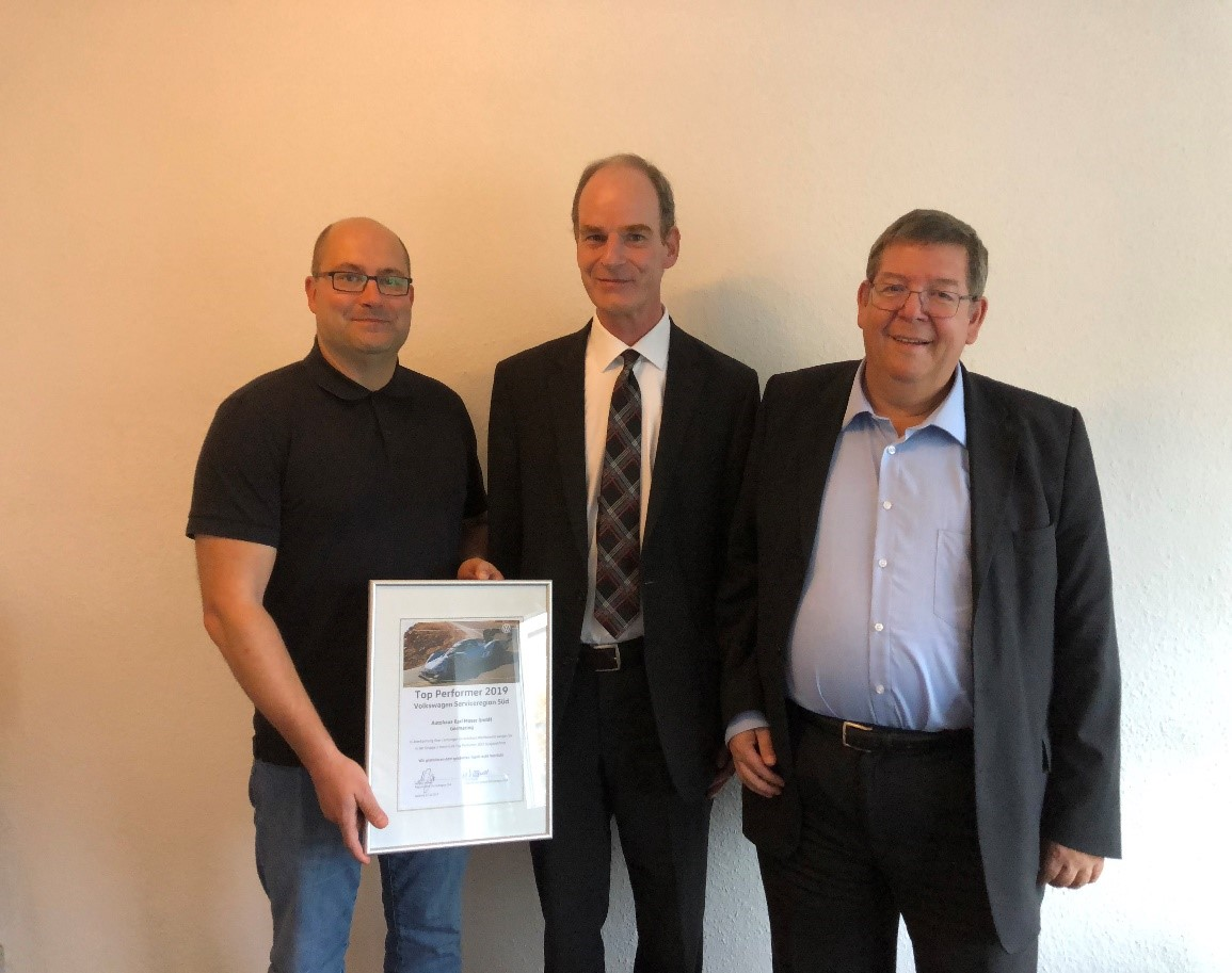 """VW Service """"Top Performer 2019"""" Autohaus Karl Moser"""